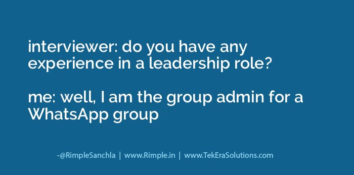 Leadership skills in Whatsapp Group Admin