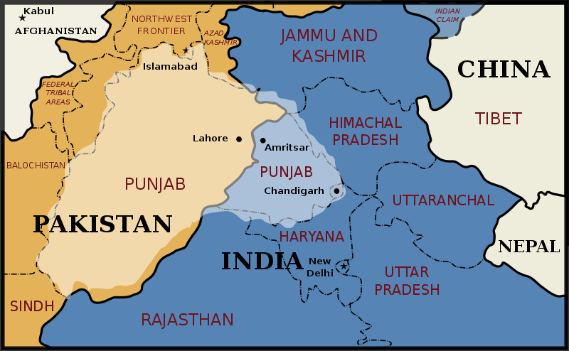 Partition – Majority of Punjab was allotted to Pakistan
